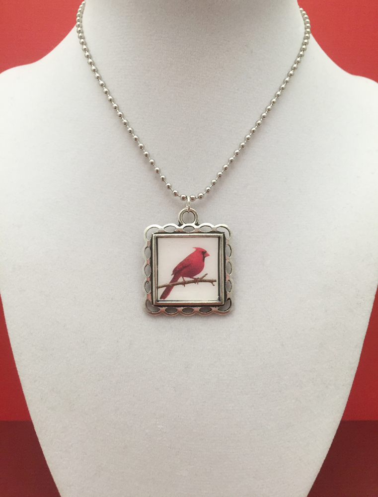pendant zoom cardinal hand red necklace il charm sculpted small listing or bird fullxfull